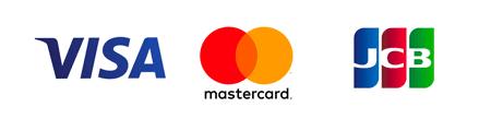VISA、 MasterCard、 JCB