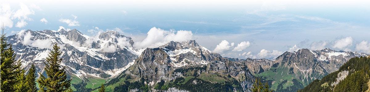 スイスの山並み